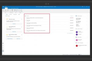 Outlook Customer Manager – Using tasks and automatic reminders