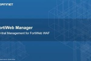 FortiWeb Manager Demo | Network Security