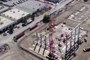 New Fortinet Global Headquarters Drone Flyover   Part 7   Building Foundations Growing