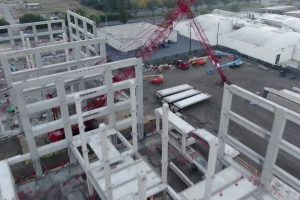 New Fortinet Global Headquarters Drone Flyover | Part 9 | Building Frame Coming Together