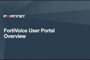 FortiVoice User Portal Demo | Product Demo