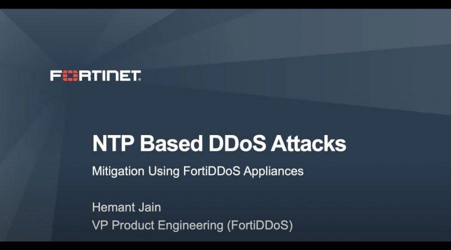 Mitigating NTP based DDoS attacks using FortiDDoS   DDoS Cybersecurity