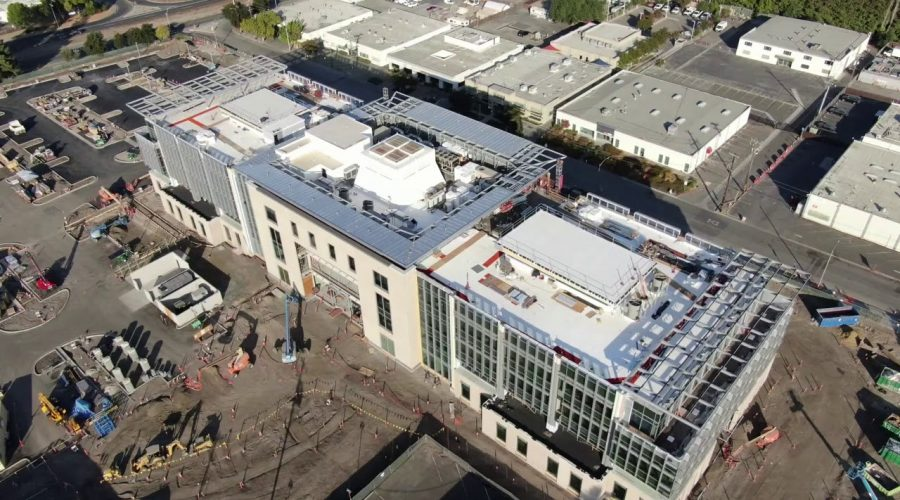 New Fortinet Global Headquarters Drone Flyover | Part 12 | Windows, Walls, Roof Assembled